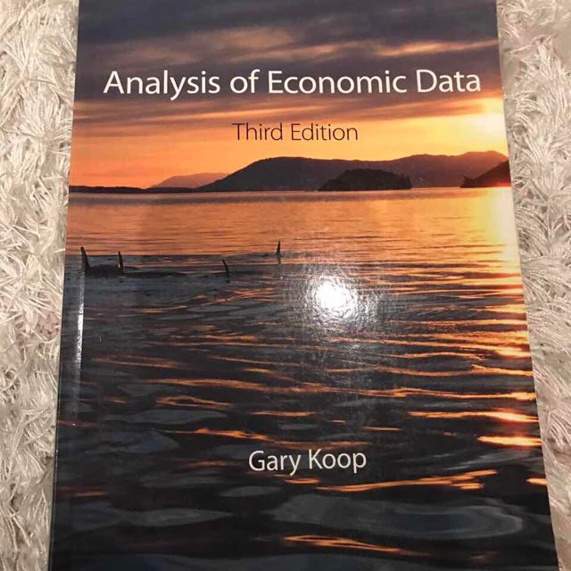 ANALYSIS OF ECONOMIC DATA-3rd EDITION
