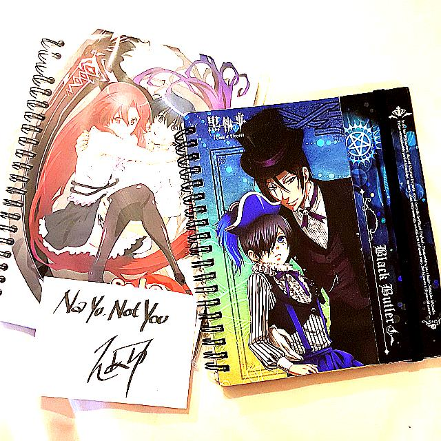 Anime Notebooks $7 each