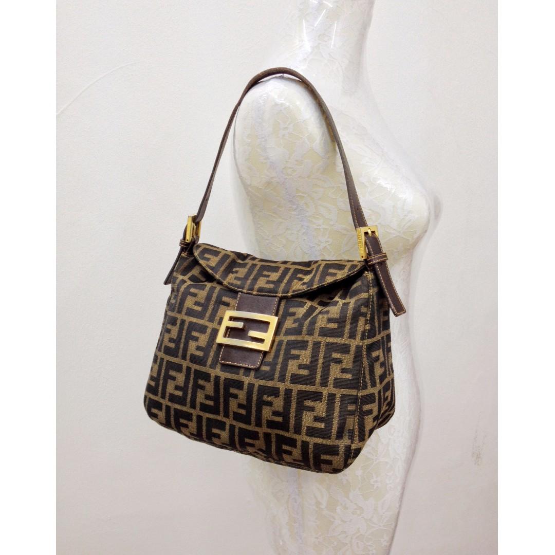 d1872154d359 Authentic FENDI Zucca Shoulder Bag
