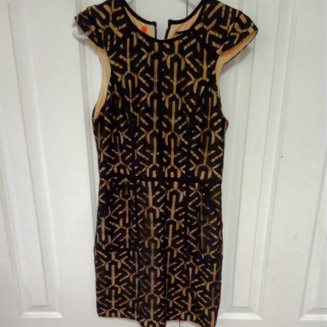 Black And Gold Dress Size 8