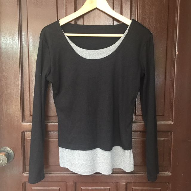 Black And Gray Pullover