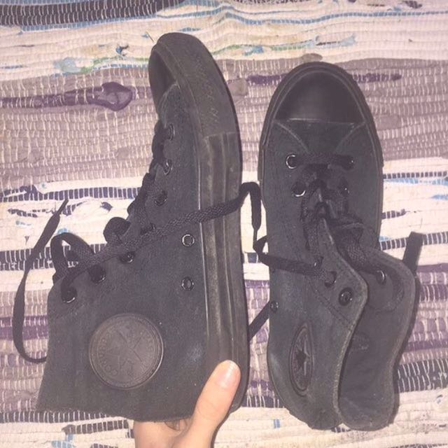BLACK HIGH TOP CONVERSE SHOES