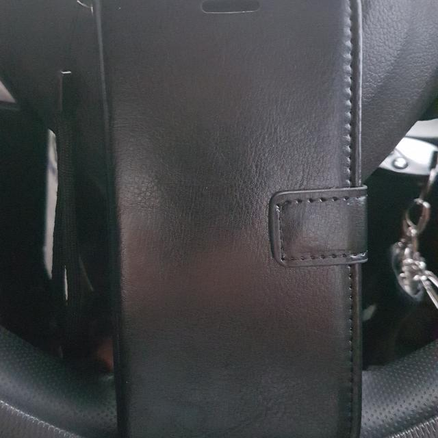 Black Leather Flip Case S7 Flat