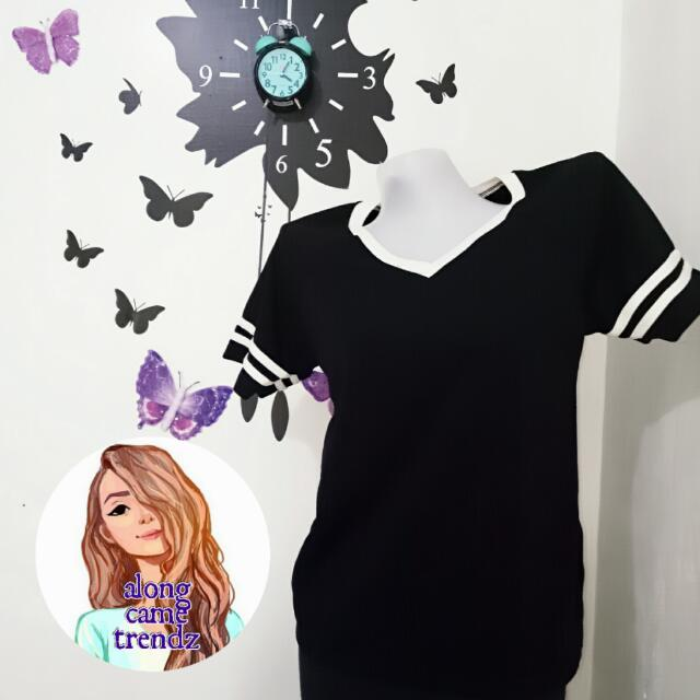 Black Ringer Shirt