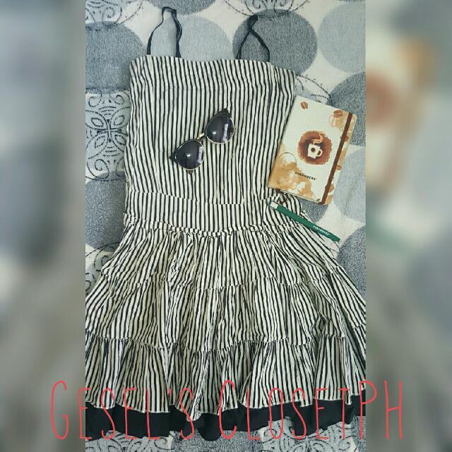 Black&White Striped Dress