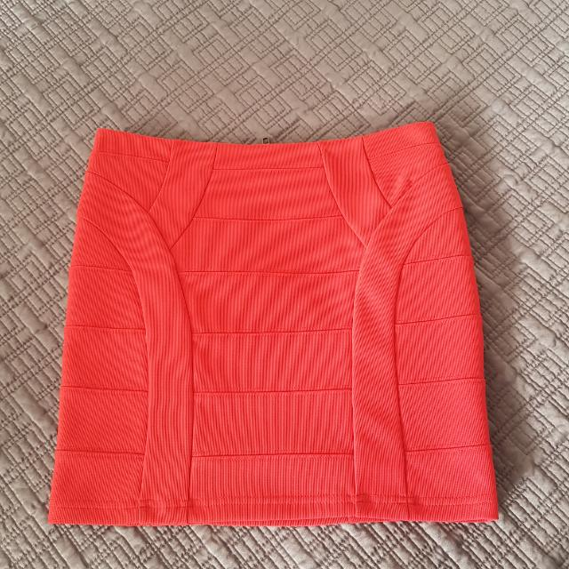 Blockout Red Bandage Skirt