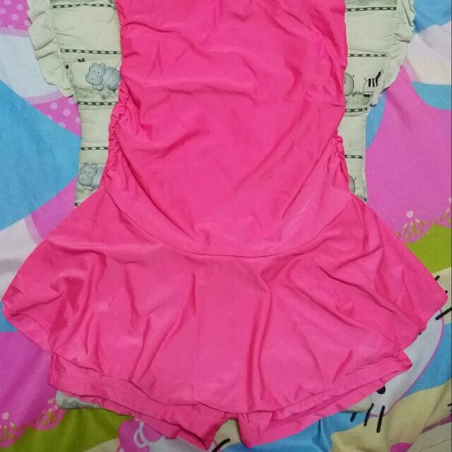 Bright Pink Swimming Costume Sports Sports Apparel On Carousell
