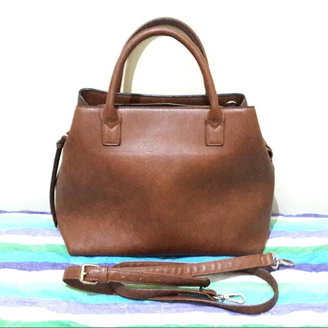 Brown Handbag With Strap By Stradivarius