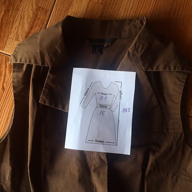 Brown Sleeveless Dress
