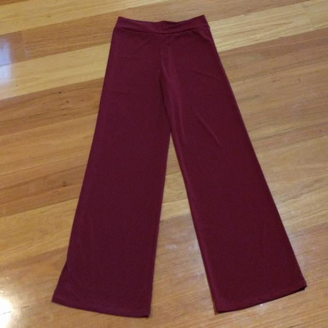 BURGUNDY PARTY PANTS