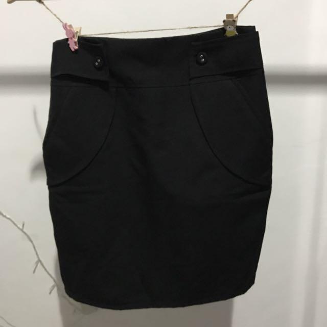 Button Pocket Skirt