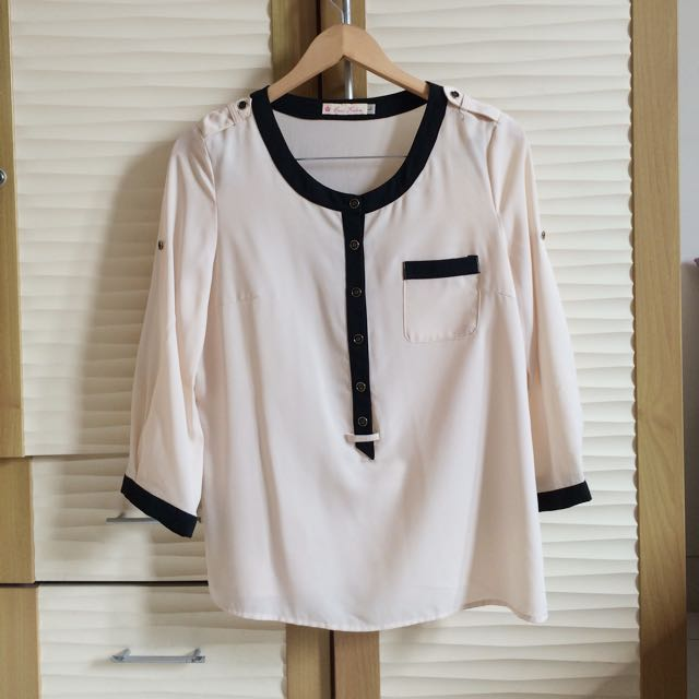 COCO KELEN Cream Blouse