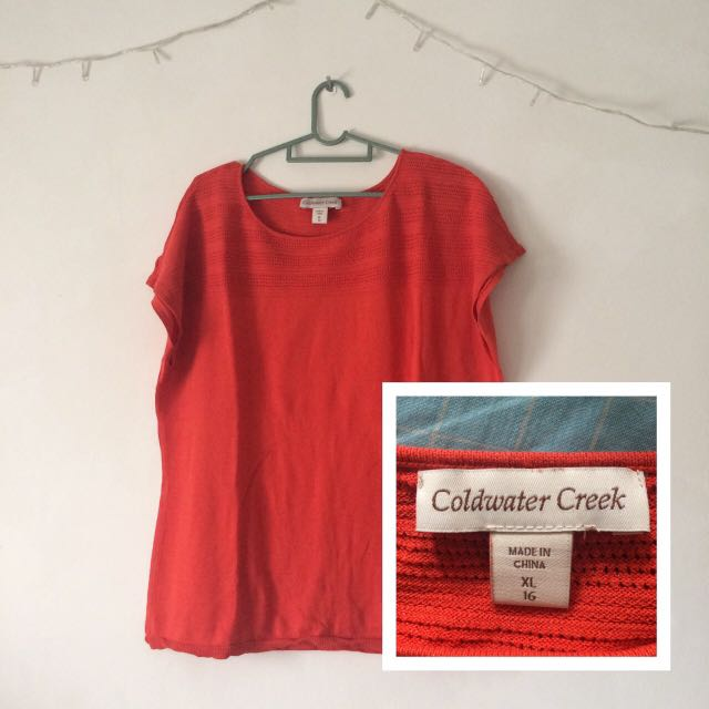 Coldwater Creek Orange Tee
