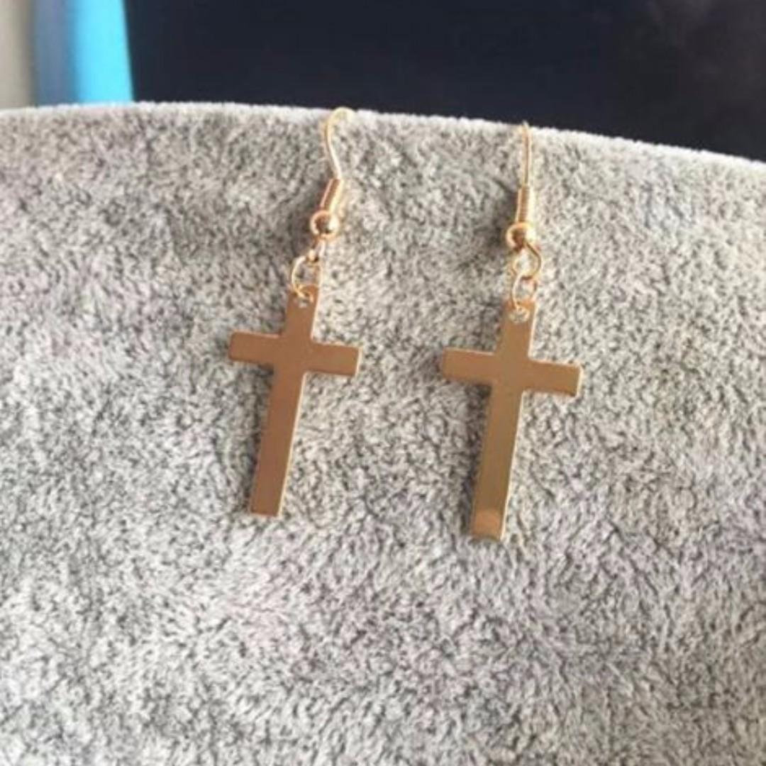 cross ear rings