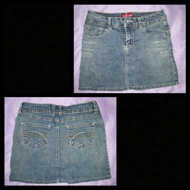 Denim skort (skirt with shorts inside)