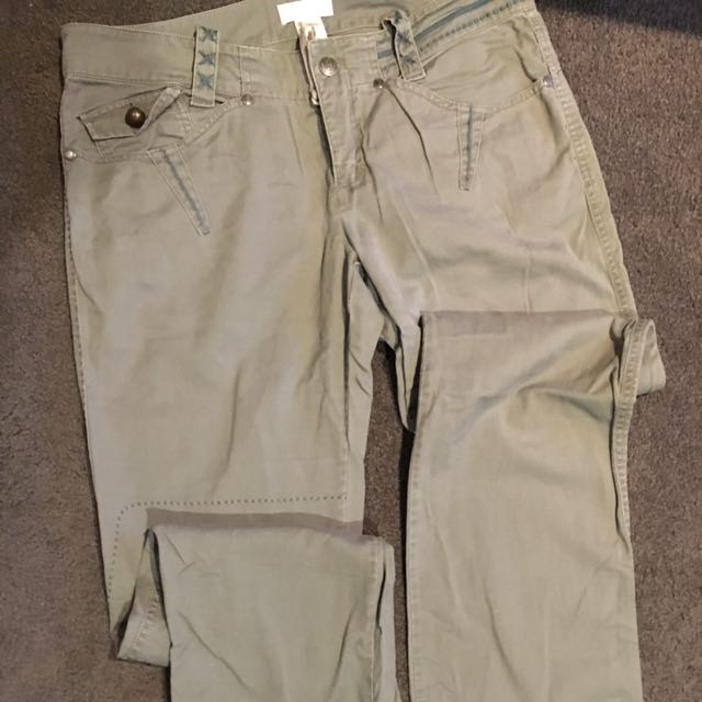 Diesel Khaki straight leg trouser In Size 30