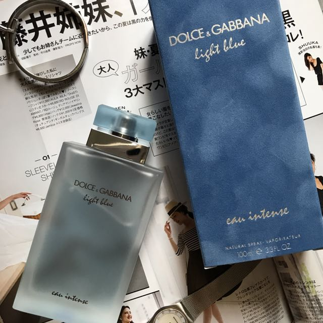 53d1b61e48b1e Dolce   Gabbana D G Light Blue Eau Intense EDP (100ml) PLUS samples ...