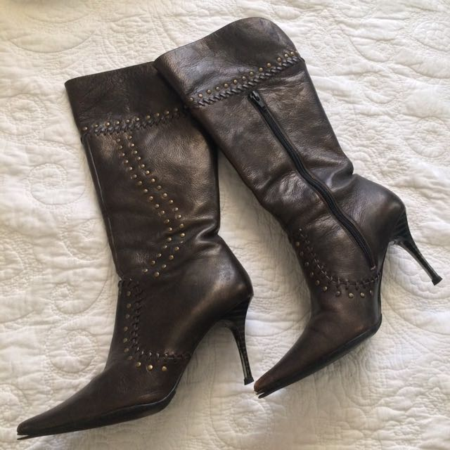 Donna Velenta Heeled Leather Boots