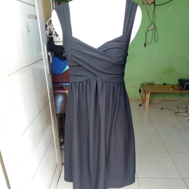 Dress Mewah Hitam Pekat