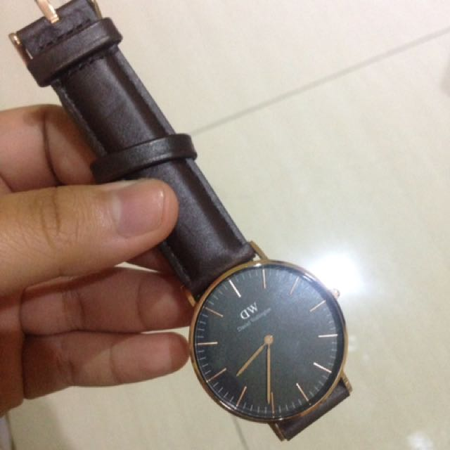 Dw Classic Black Bristol Rose Gold 36mm