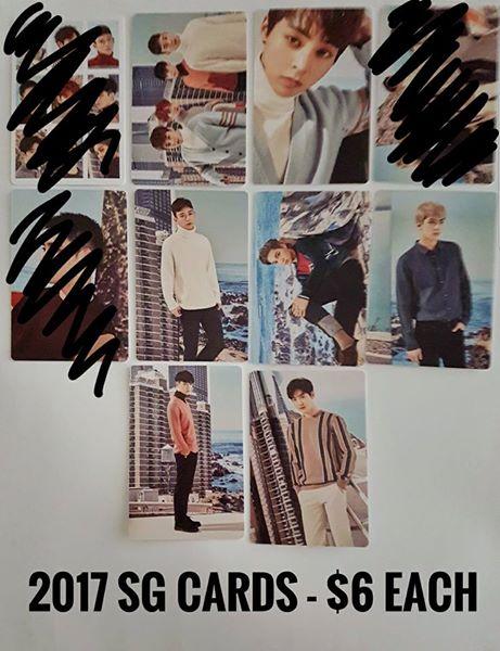 EXO 2017 SG cards