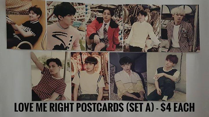 EXO LMR set A postcard