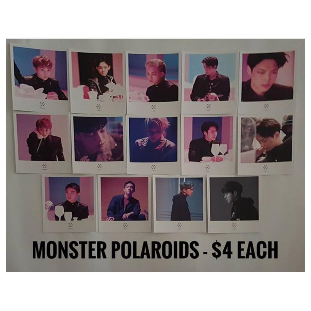 EXO Monster Polaroids