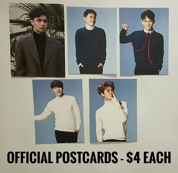 EXO Official Postcards