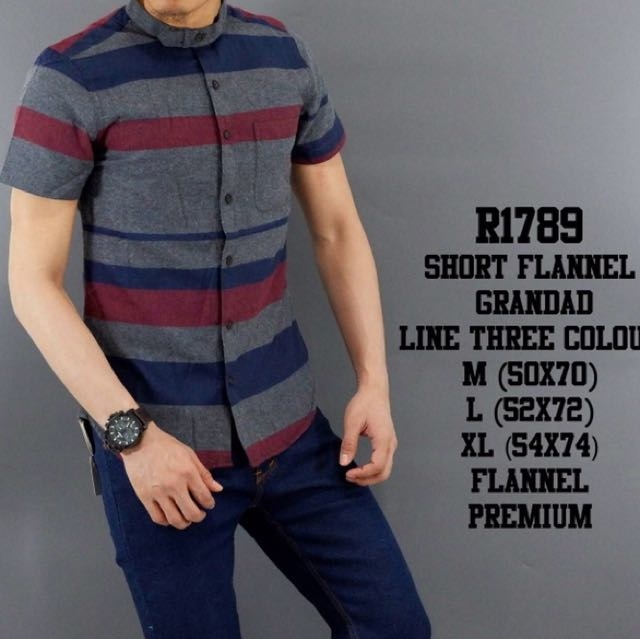 Flanel Grandad Mix Triple Colors