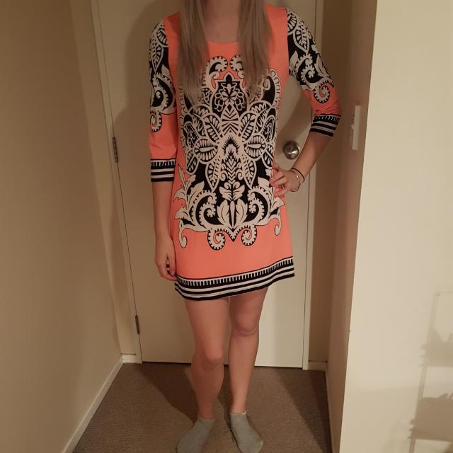 Fluro Orange Short Dress
