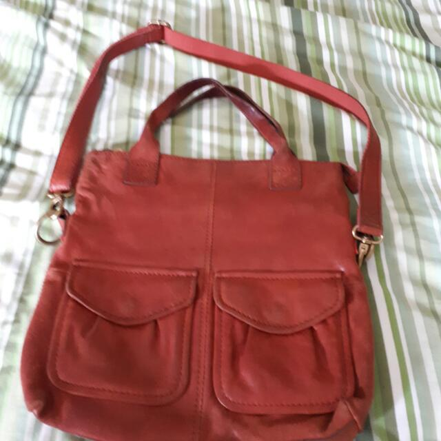 Fossil Distressed Leather 2 Way Bag