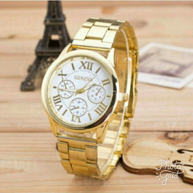 FREE Brand New Geneva Gold Watch For Every 2000 And Up Purchase...