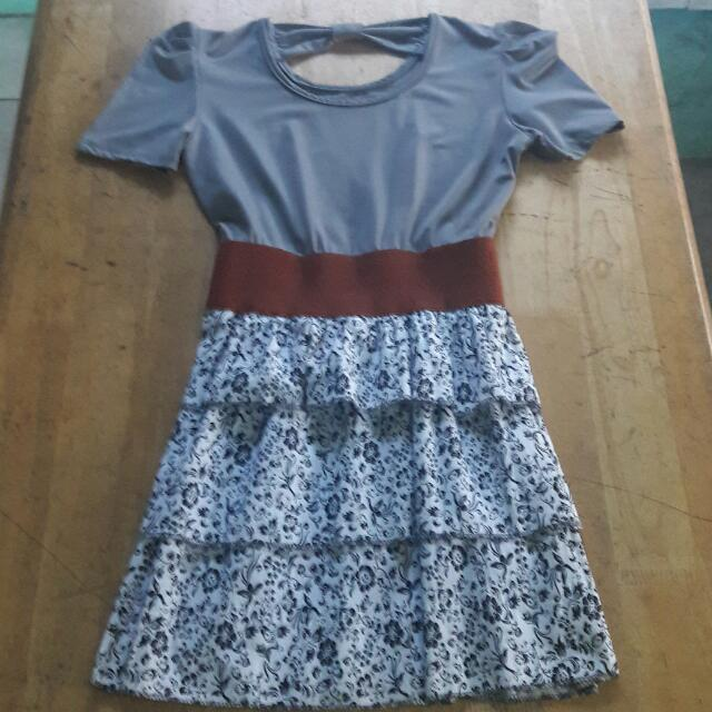 Garterized-Waist Dress