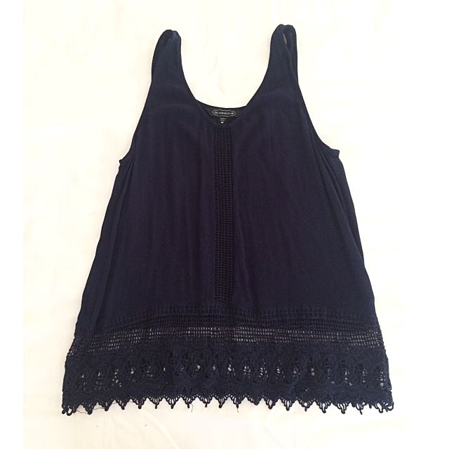 Glassons Summer Navy Blue Top