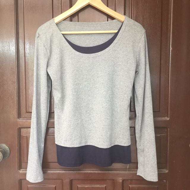 Gray And Black Pullover