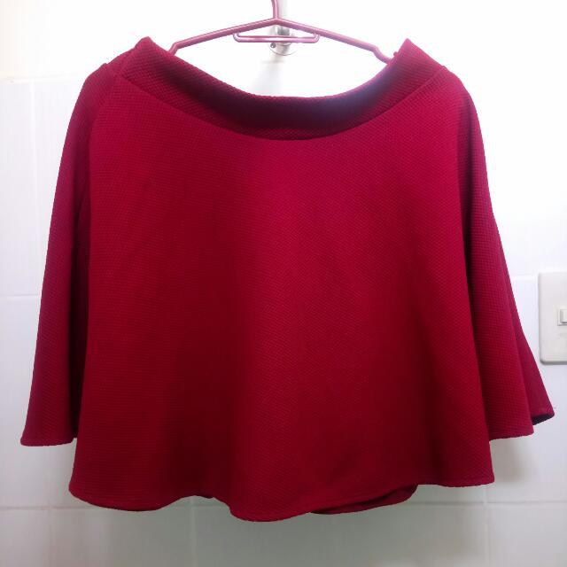 GTWFAB Red Skater Skirt