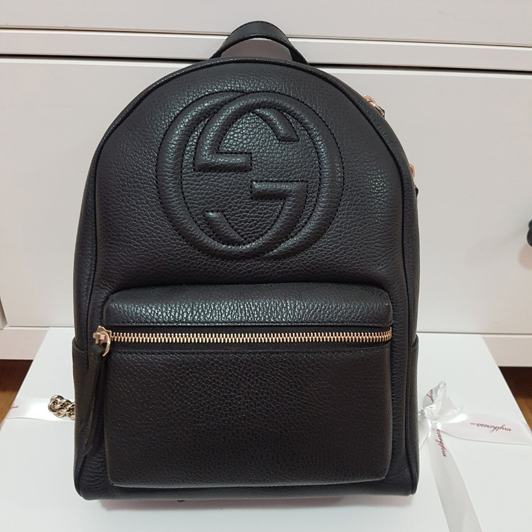 daff746cbddf Gucci Soho Disco Bagpack, Luxury, Bags & Wallets on Carousell