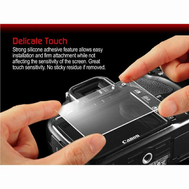 HD Tempered LCD Screen Protector Guard for Canon DSLR Camera高清鋼化液晶屏保護罩佳能數碼單反相機