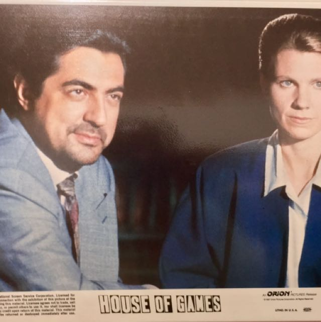 """HOUSE OF GAMES (1987) 8 Mini Lobby Cards 8""""x10"""""""