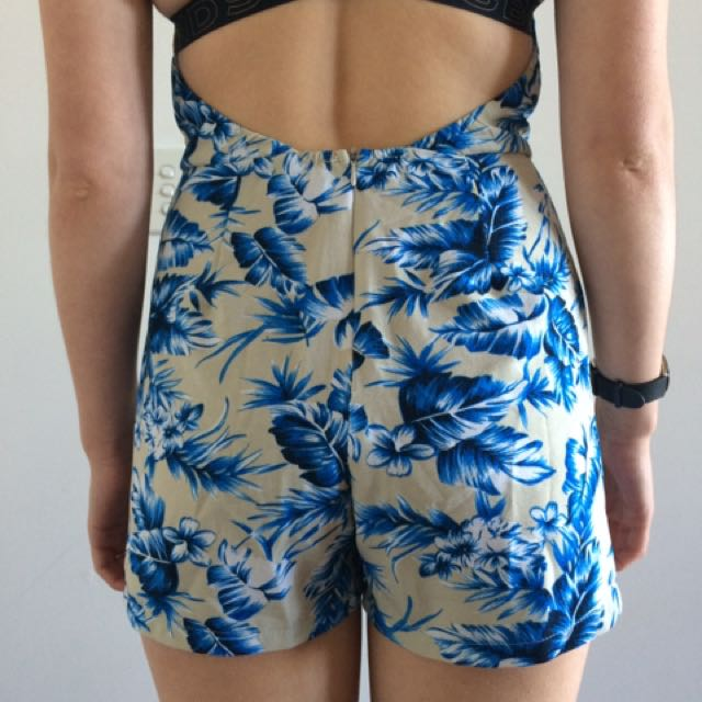 ICE Fashion Size S Blue Patterned Romper