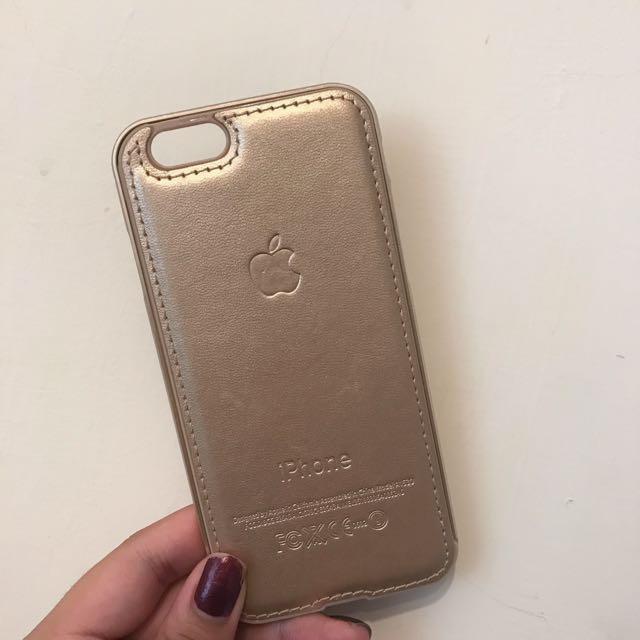 【含運】iPhone 6/6s  4.7吋金屬邊框+皮革後蓋手機套