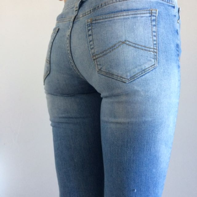 Jeansewst Super Skinny Size 9 Washed Blue Denim Jeans
