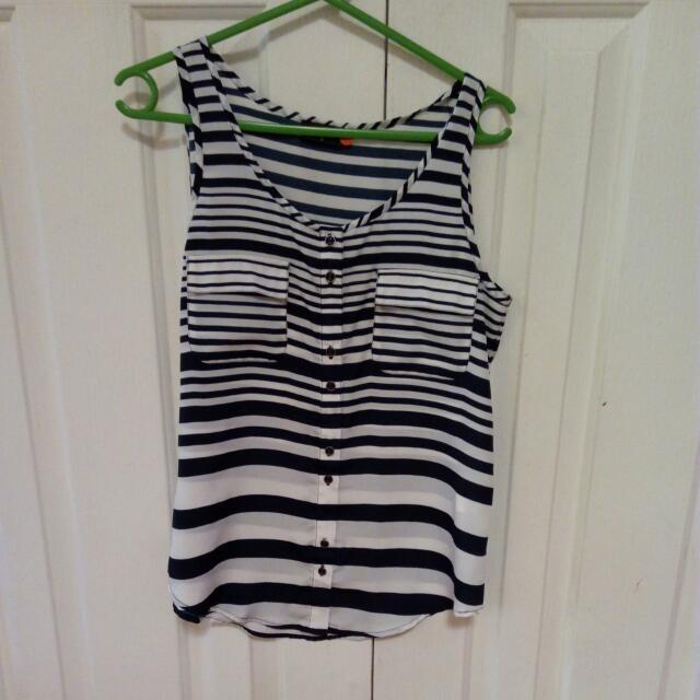Jeanswest Striped Singlet Size 8