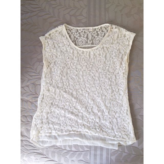 Lace White Miracle Top