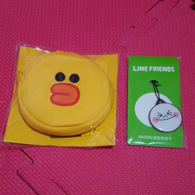 (正版)LINE Friends悠遊卡+零錢包