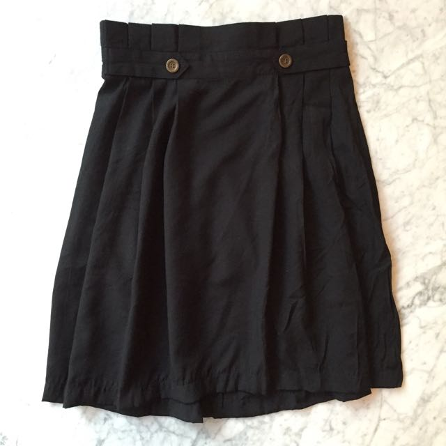 LM For Hardware Black Skirt / Rok Hitam