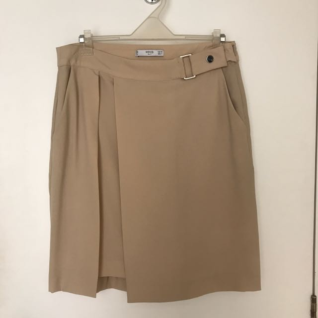 Mango Nude Office Skirt