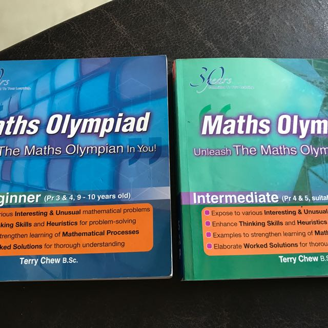 Math Olympiad By Terry Chew, Books & Stationery, Textbooks on Carousell