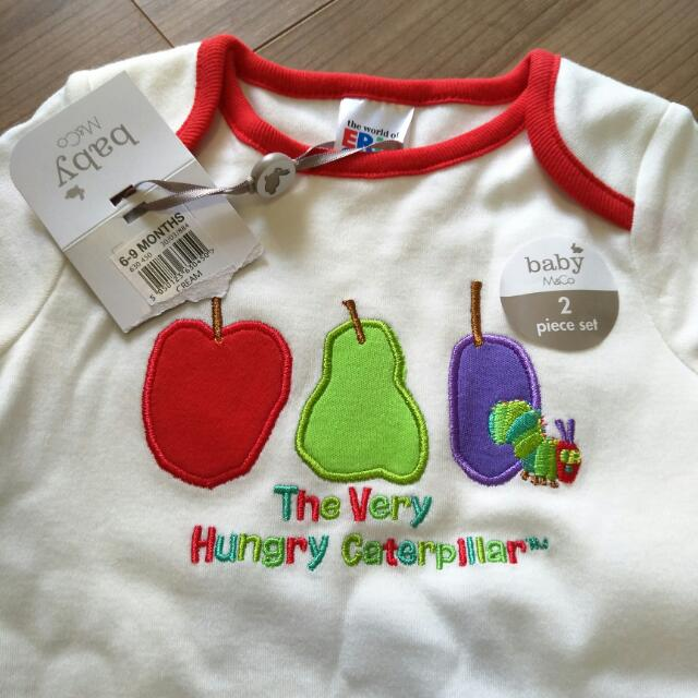 a33215e76778c M&Co Baby 2 Piece Set (Hungry Caterpillar), Babies & Kids, Babies Apparel  on Carousell