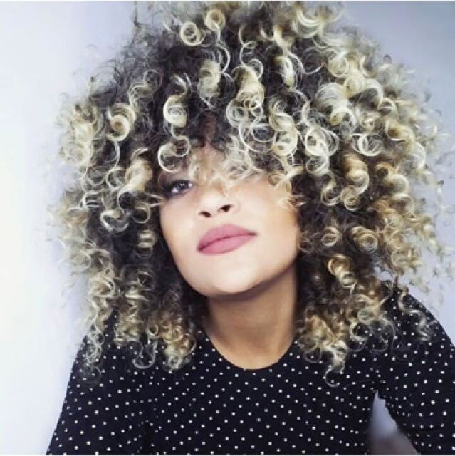 Medium Length Shaggy Curly Wig